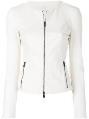 Куртка на молнии Drome. Цвет: телесный