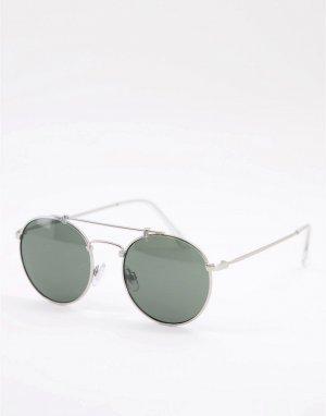 Солнцезащитные очки в серебристой оправе Henderson-Серый Vans