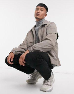 Коричневая куртка в стиле милитари -Коричневый Hummel