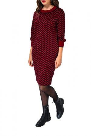 Платье Caterina Leman. Цвет: бордовый, черный 1609