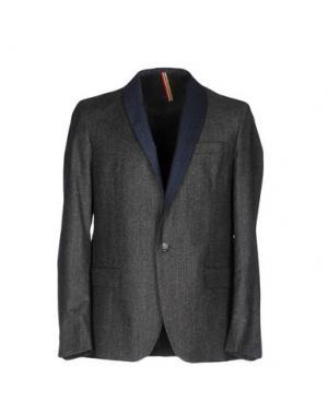 Пиджак LOW BRAND. Цвет: стальной серый