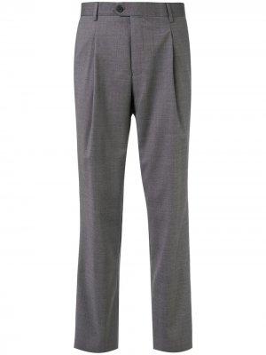 Прямые брюки с классической талией Gieves & Hawkes. Цвет: серый