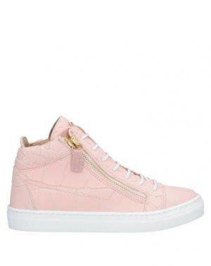 Высокие кеды и кроссовки GIUSEPPE ZANOTTI. Цвет: розовый