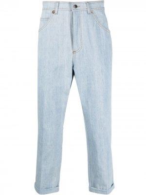 Зауженные джинсы с подворотами Neil Barrett. Цвет: синий