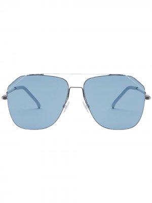 Солнцезащитные очки FendiFiend формы караван Fendi Eyewear. Цвет: серебристый