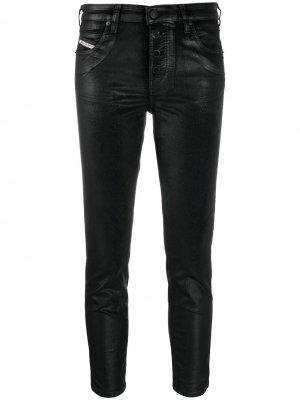 Укороченные джинсы скинни Babhila Diesel. Цвет: черный