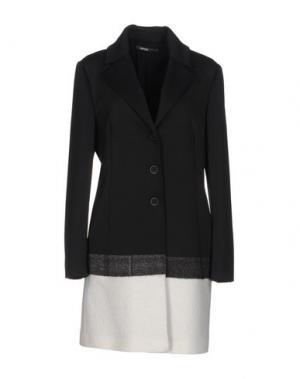 Легкое пальто PIANURASTUDIO. Цвет: стальной серый