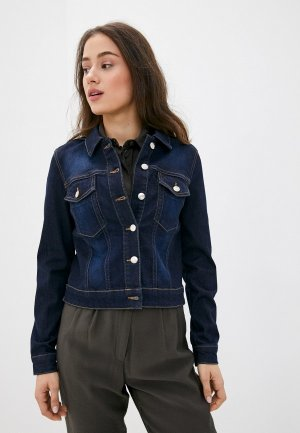 Куртка джинсовая Madeleine. Цвет: синий
