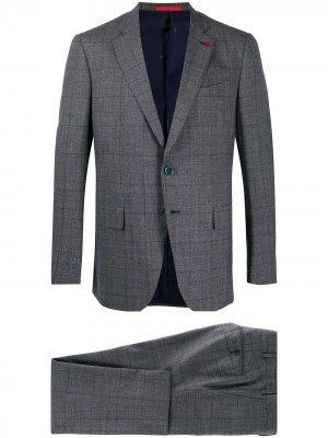 Slim-fit checked suit Isaia. Цвет: синий