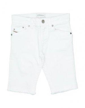Джинсовые шорты DIESEL. Цвет: белый