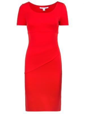 Коктейльное платье Diane von Furstenberg. Цвет: красный