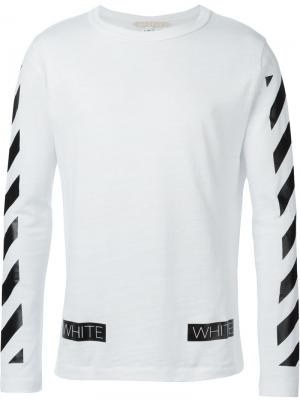 Футболки и жилеты Off-White. Цвет: белый