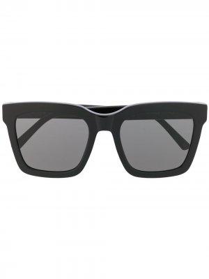Солнцезащитные очки-авиаторы в квадратной оправе Retrosuperfuture. Цвет: черный