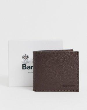 Коричневый кожаный кошелек Keel-Черный Barbour