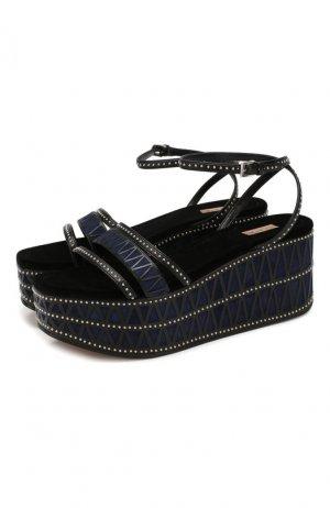 Кожаные сандалии Alaia. Цвет: синий
