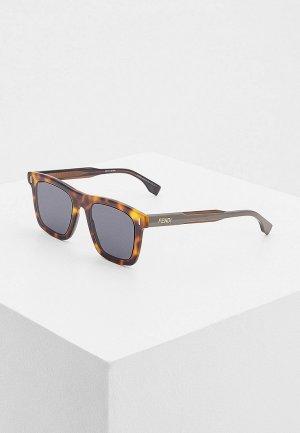 Очки солнцезащитные Fendi FF M0086/S 9N4. Цвет: коричневый