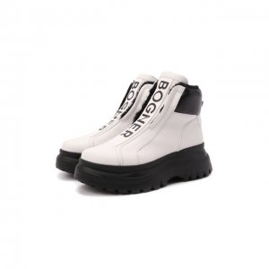 Кожаные ботинки Bogner. Цвет: чёрно-белый