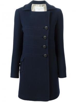 Пальто Aquilano.Rimondi. Цвет: синий