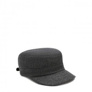 Шерстяная кепка Brunello Cucinelli. Цвет: серый