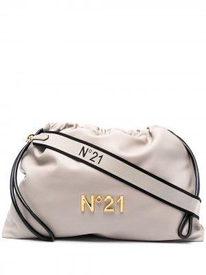 Сумка через плечо с логотипом Nº21. Цвет: серый