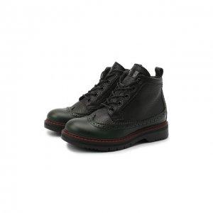 Кожаные ботинки Jarrett. Цвет: чёрный