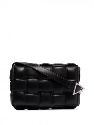 Дутая сумка на плечо Cassette Bottega Veneta. Цвет: черный