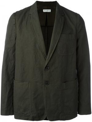 Блейзер с накладными карманами Dries Van Noten. Цвет: зелёный