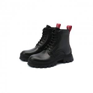 Кожаные ботинки Dsquared2. Цвет: чёрный