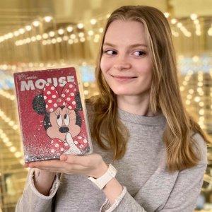 Ежедневник а5 с обложкой шейкер minnie mouse, минни маус, 96 листов Disney