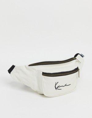 Белая сумка на пояс с рукописным логотипом -Белый Karl Kani