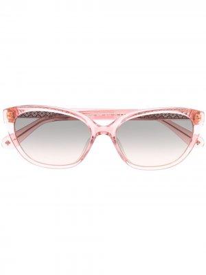 Солнцезащитные очки Philip в оправе кошачий глаз Kate Spade. Цвет: розовый
