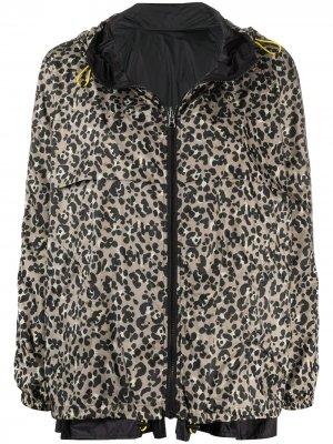Куртка с капюшоном и леопардовым принтом Seventy. Цвет: нейтральные цвета
