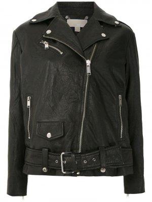 Байкерская куртка прямого кроя Michael Kors. Цвет: черный
