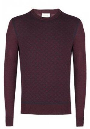 Пуловер BRIONI. Цвет: бордовый