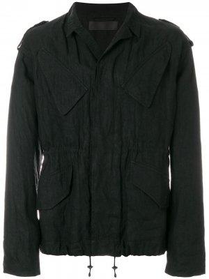 Куртка с эластичным подолом Haider Ackermann. Цвет: черный