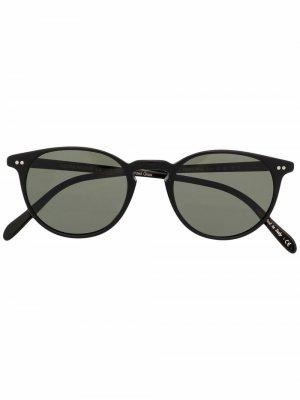 Солнцезащитные очки Riley Oliver Peoples. Цвет: черный