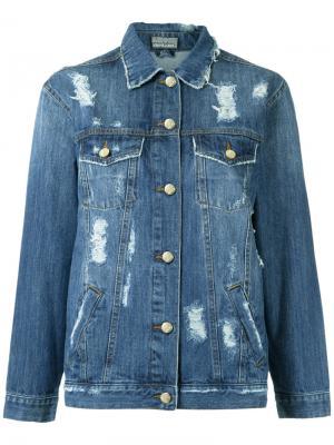 Рваная джинсовая куртка Amapô. Цвет: синий