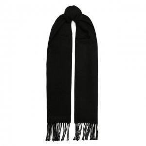 Шерстяной шарф Canali. Цвет: чёрный