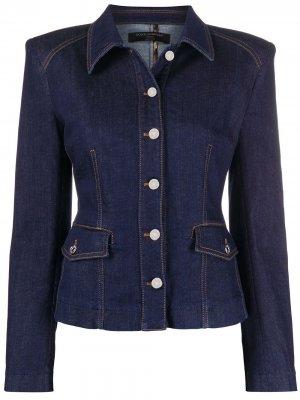 Приталенная джинсовая куртка Dolce & Gabbana. Цвет: синий