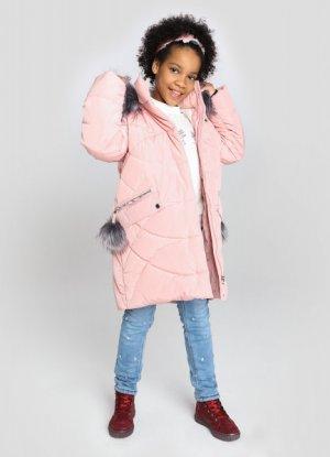 Утеплённая куртка для девочек O`Stin. Цвет: пыльно-розовый