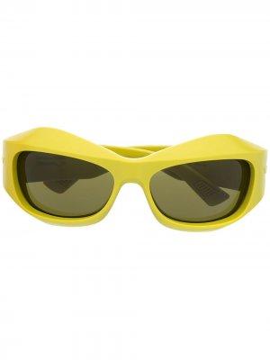 Солнцезащитные очки BV1086S Bottega Veneta Eyewear. Цвет: желтый