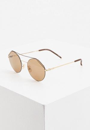 Очки солнцезащитные Fendi FF M0042/S 01Q. Цвет: золотой
