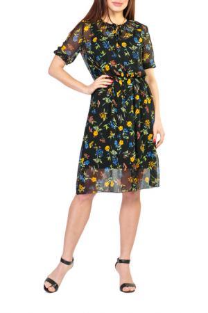 Платье Forus. Цвет: черный, зеленый, желтый