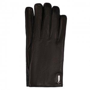 Кожаные перчатки Zilli. Цвет: чёрный