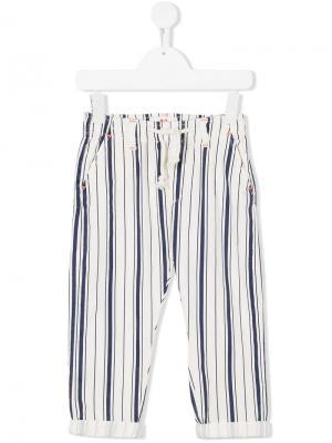 Полосатые брюки на кулиске American Outfitters Kids. Цвет: синий