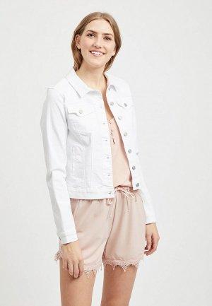 Куртка джинсовая Vila. Цвет: белый