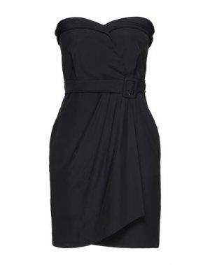 Короткое платье MOSCHINO. Цвет: черный