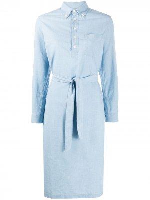 Платье-рубашка с карманами A.P.C.. Цвет: синий