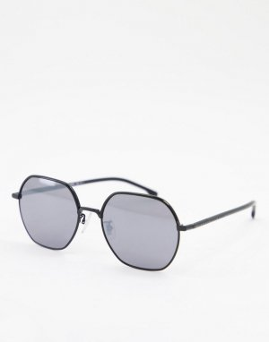 Круглые солнцезащитные очки Hugo Boss 1107/F/S-Серебристый