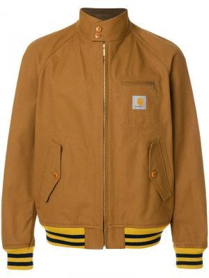Куртка-бомбер Junya Watanabe x Carhartt MAN. Цвет: коричневый